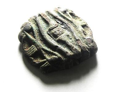 Zurqieh - Sc476- Ancient Huge Faience Eye Of Horus Amulet, 1075 - 600 B.c 2