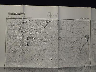 Landkarte Meßtischblatt 3051 Zachow i.d. Neumark, Kreis Königsberg, von 1945