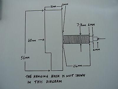 CLOCK MECHANISM QUARTZ EXTRA LONG SWEEP SPINDLE. 130mm WHITE BATON HANDS 2