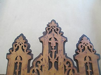 Antique GOTHIC wall clock BLACK FOREST - FRET WORK  bird's eye maple and exotic 2