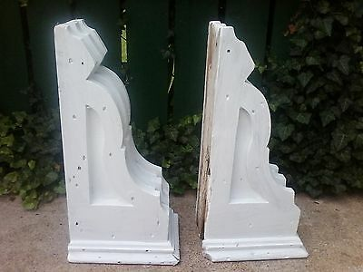Pair Of Antique Wooden Gingerbread Plantation Porch / House Corbels 6