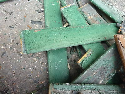LOT of salvaged WOODEN victorian SHUTTER slats GREAT 4 ART painting projects 5