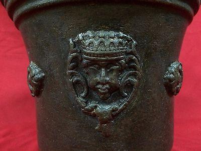 Huge Rare Antique European Bronze Mortar & Pestle Royal Aristrocatic Vase? King 3
