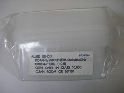 1X Silicon Wafer Cincinnati Milacron 100mm N-Type 1-0-0 PHOSPHOROUS / ANTIMONY