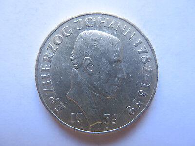 1959 AUSTRIA 25 SCHILLING COMMEMORATIVE SILVER COIN in EXCELLENT CONDITION