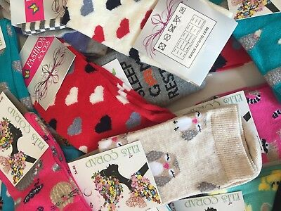 15 pairs luxury ladies womens coloured design socks cotton UK size 4-7  ELAZIG34