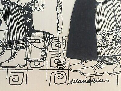 Maria Rius Camps, firmado y catalogado, 40x20 cms 2