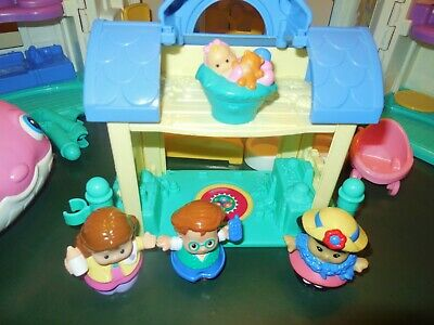 Fisher Price Little People Sweet Sound Dollhouse Cradle Family House Home Lot 10