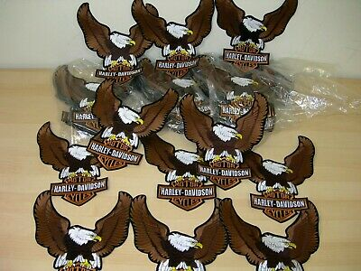 "Harley-Davidson Brown Up-Wing Eagle Patch ""10 1/2 x 7 3/4 "" - Made in USA 4"
