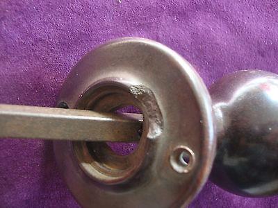 Vintage brown bakelite rimlock handles 2