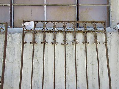 Antique Victorian Iron Gate Window Garden Fence Architectural Salvage Door #381 2