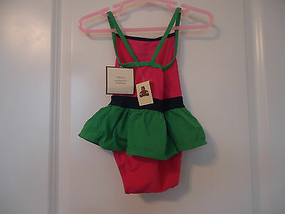 NWT babyGap 18-24 Months girl's One-Piece Skirted Swimsuit Pink Green Flower