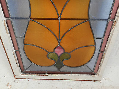 Vintage Stained Glass Window Panel (3089)NJ 8