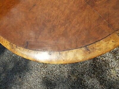 A Stunning Victorian/Early Edwardian Burr Walnut & Banded Oval Tilt Top Table 9