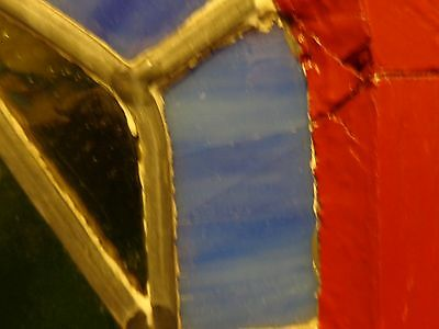 """STUNNING Vintage Arched Stained Glass Window, 5'  9-1/2"""" Tall 10"""