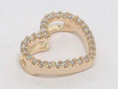 Diamant Anhänger Gelbgold Herz Anhänger 30 lupenreine Diamanten