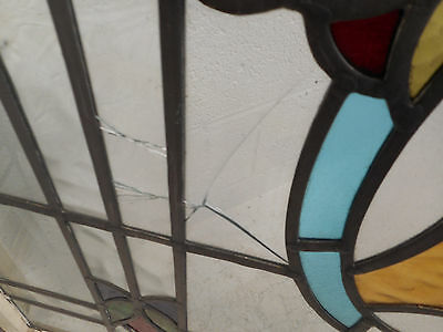 Vintage Stained Glass Window Panel (3035)NJ 9