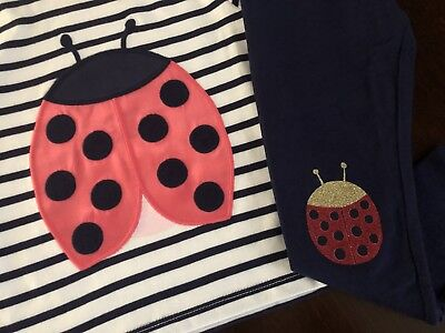 Gymboree Girls Kitty Tee /& Leggings Lady Bug Outfit NWT 2T $39.90