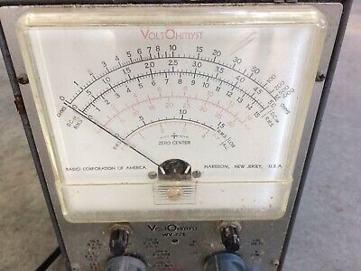 Vintage RCA VOLTOHMYST Type WV-77E volt meter tube test equipment 2