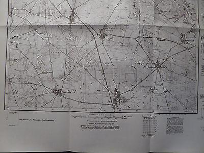 Landkarte Meßtischblatt 3554 Gr. Rade i.d. Neumark, Kreis Weststernberg, 1934
