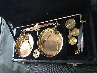 Feinwaage Goldwaage antik Anfang 19. Jahrhundert 5
