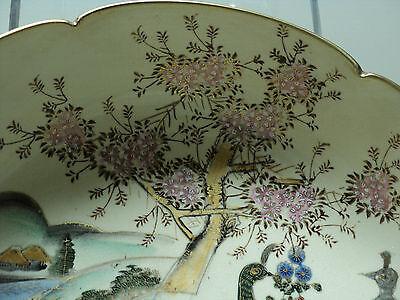 19th C. ANTIQUE JAPANESE SATSUMA POTTERY BOWL, MEIJI PERIOD (1868-1912) 2