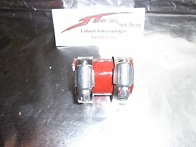 """High Temp Rubber Exhaust Clamp 1/"""" ID Red For Yamaha Blaster YFS200 ATV 1 Piece"""