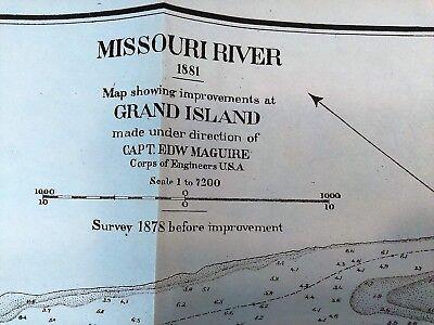 1882 Sketch Map Missouri River Grand Island Improvements Capt. EDW McGuire 2