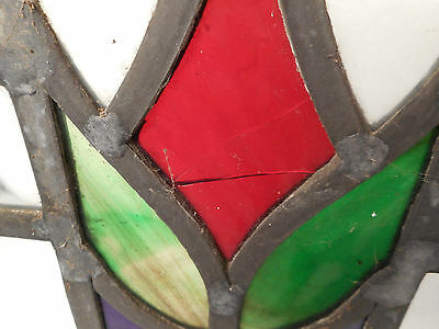 Vintage Stained Glass Window Panel (3035)NJ 5