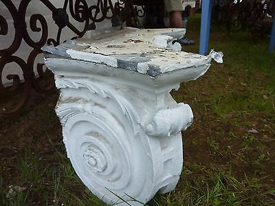 "GORGEOUS c1916 pilaster CAPITOL pediment salvaged HARVARD college 45"" x 13 x 15"" 3"