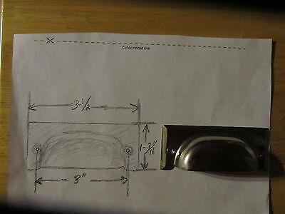 6 vintage drawer pulls bin handles polished steel nickel plated nos cup office 2