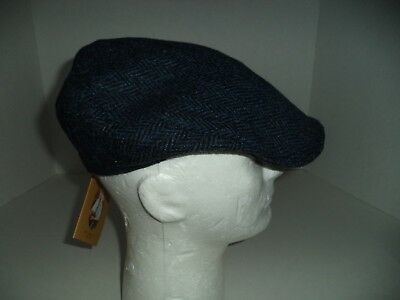 1c827a4df02f6 2 of 4 Men s Irish Tweed Touring cap Black Blue Hanna hat hand made in  Donegal Ireland
