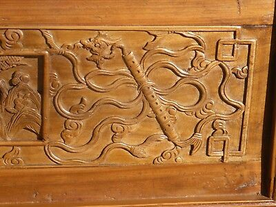 Antique Asian Chinese Carved Chinoiserie Door Panel Wall Hanging 11