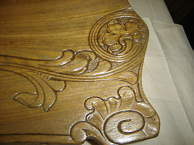 Chestnut Pediment Chair Top  Decorative Architectural Wall Hanging Crown 6675h 4