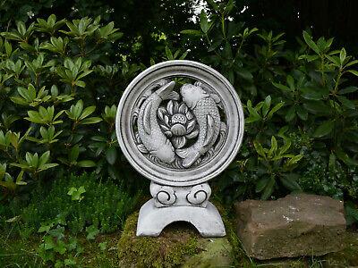 Steinfigur Obelisk Frostfest Garten Deko Steinguss Skulptur Gartenfigur