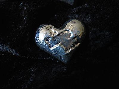 "2 TR/OZ MK BARZ ""I LOVE YOU"" HEART.999 Fine Silver HAND POURED 2"