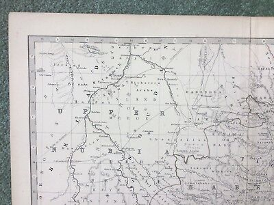 19th C map Upper Nubia and Abyssinia, Keith Johnston / William Blackwood & Sons