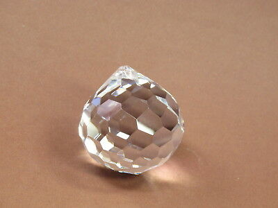 Kristall Glas Kugel 50mm Facette Vollschliff für Maria Theresia Lüster   boule