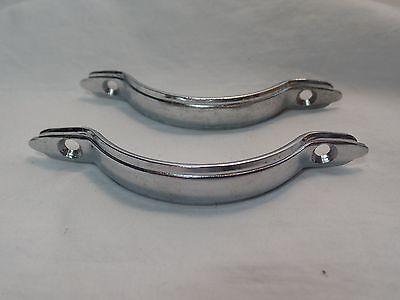 2 Silver Metal Drawer Pulls VIntage Retro 7