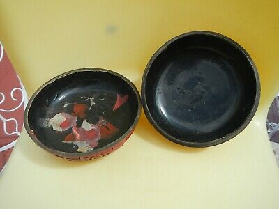 Antique Carved Chinese Cinnabar Lacquer Box Deep Vivid Red Figural Men Checkers 11