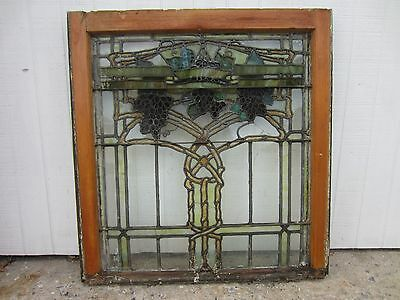 ~ Antique American Stained Glass Window ~ Grapevines ~ Architectural Salvage ~ 8