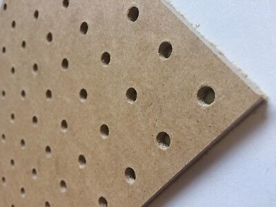 Pack Of 3 600x600mm Pegboard Sheets 6mm Thick 25mm Hole Centre 2