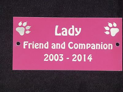 Personalised Pet Memorial Plaque with Cat Prints - Various Colours 4