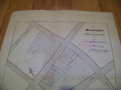 1870 Map Building Lots West Elizabeth NJ James S. Vosseller Davenport & Hinman 2