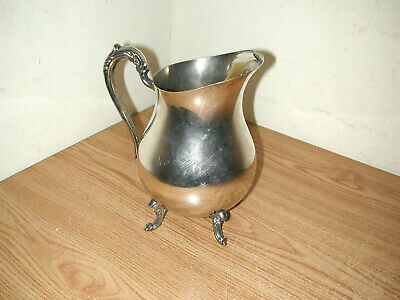 Vintage F.b. Rogers Silver Plated Footed Water Pitcher With Ice Guard 3