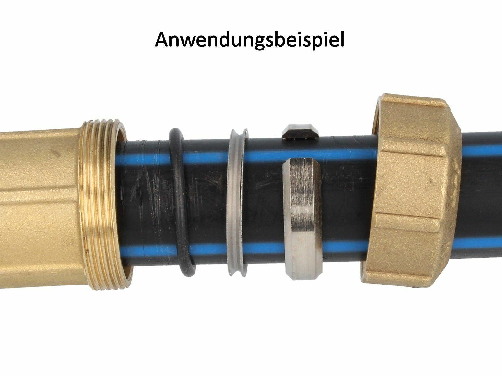 Itap VX Messing-Klemmverbinder Pièce en T avec IG pour Tube Pe Dvgw Approuvé