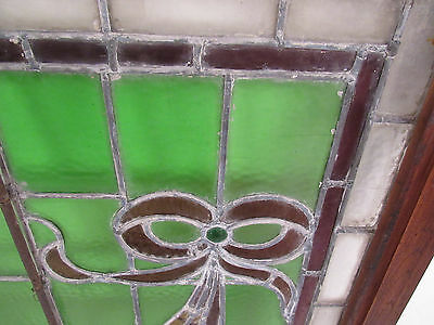 Vintage Stained Glass Ribbon Hanging Window (1265)NJ 6