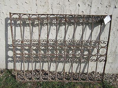 Antique Victorian Iron Gate Window Garden Fence Architectural Salvage Door #367 3