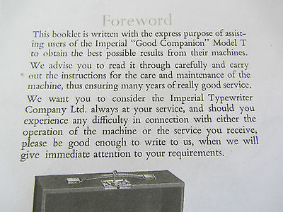 Imperial Good Companion Model T-Photocopy Of A Well Thumbed Instruction Booklet 4