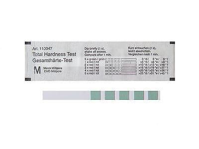 5 Wasserhärte Teststreifen von Merck - Kalk Teststäbchen - Indikatorpapier GH 3